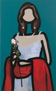 Maria Teresa 1, Julian Opie, Inkjet on canvas, Copyright Julian Opie and Lisson Gallery