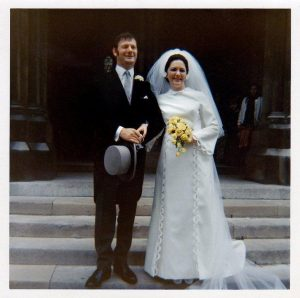 Martin and Louise Gordon at their wedding in 1971