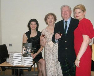 The Dublin book launch with Louise and Martin Gordon, and daughtersKatherine and Victoria