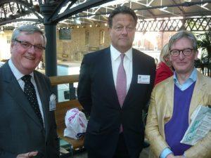 l to r: Doug Barrow of Maritime London, Hugo Wynn-Williams, Chairman of Tomas Miller and Ian Gaunt