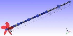 ESA 16000TEU continership shaftline model