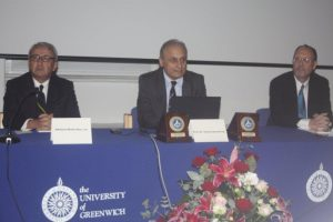 Retired Admiral Metin Ataç, Prof Osman Kamil Sağ, and Prof Gregory McIntosh