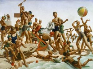 Australian Beach Pattern., By Charles Meere, Oil on canvas, Art Gallery of New South Wales. Copyright DACS 2013