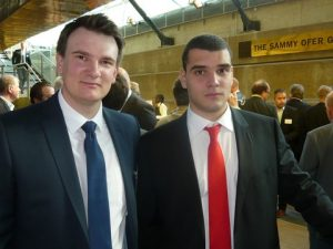 Petre Allan from Star reefers with Annthony Virgiotis from the Southampton University