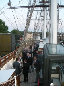 A view of the party at the portside