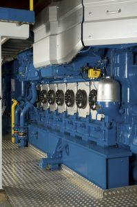 Wärtsilä 34DF engine.