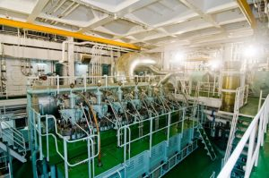 m/v Shansi, view of the engine room