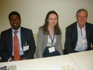Arun Velusami, Marne Beukess and Dr. Bob Middleton
