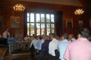 Cdre Jan Vos RNlN rounds off two highly informative and entertaining After Dinner Addresses