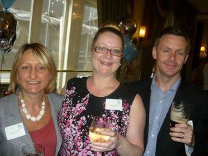 IUA's Debbie Cooke and Helen Dalziel with Chris Jones, Director of Market Services