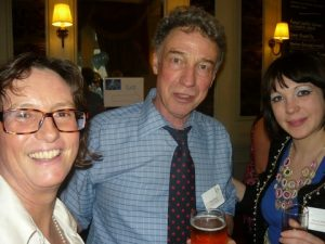 Mike Brook from IHS Fairplay flanked by The Nautical Institute's Bridget Hogan and Rachel Miller