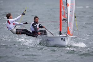 the French 29er team at the 2012 ISAF Youth Worlds - photo credit David Branigan / ISAF Youth Worlds.