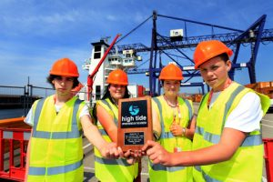 School leavers set sail from Teesport on work placement
