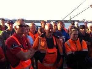 Belgian dockers were on strike for six days