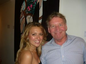 Demetra Papachristou with former Lloyd's List journalist Nigel Gray