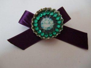 Bottlecap brooch, by Hanna Harri