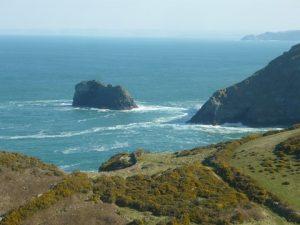 The coast of Titangel, Cornwall