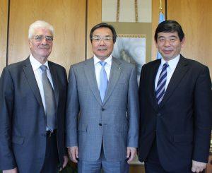 Raymond Benjamin, Koji Sekimizu and Kunio Mikurya