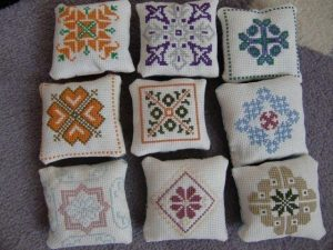 Lavender cushions, by Hanna Harri