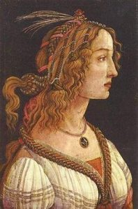 Simonetta Vespucci as a model for Sandro Botticelli