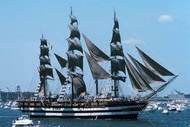 Training ship Amerigo Vespucci under sail