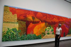 A Closer Grand Canyon Oil on canvas. By David Hockney. Acquired with the support of the Møller Foundation