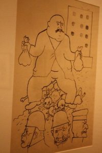 Exploiter.Ink on paper.By George Grosz, 1919.