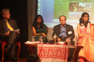 Humphrey Hawksley, Kongkona Sarma, Vijay Mehta and Smitana Saikia