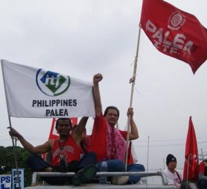 Protest by the Philippine union PALEA