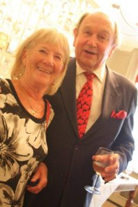Sheila Hemphill and Nigel Kemble-Clarkson, the longest serving full time broker at Lloyd's, who is author of Reflections of a Rascal.