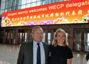 Mayor Johnny Søtrup of Esbjerg and Mayor Christine Sagen Helgø of Stavanger after meeting with the second largest producer of oil and gas, Sinopec in Beijing, China. As a member of World Energy Cities Partnership (WECP) Esbjerg will have many opportunities to market Danish interests globally.
