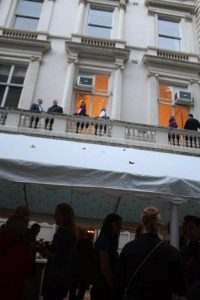 Party time on ground floor and terrace of Ognisko Polskie