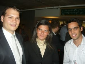 Claudio Chiste, Magda Garcia and George Zaimis from World Fuel  Services