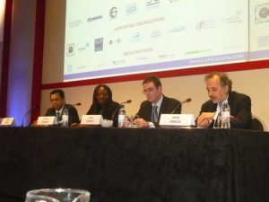 Dr. Abdul Rahim, Patience Mayiaki, David Roberts and Dr. Nikos Mikelis