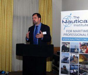 David Patraiko at the podium