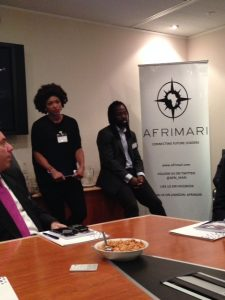Gemina Cooper thanking the participating members of Afrimari and other delegates