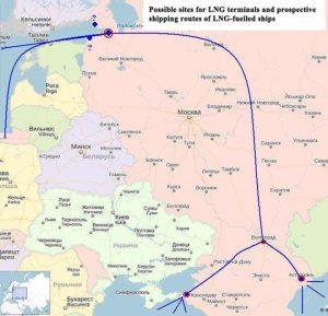 LNG terminals ships