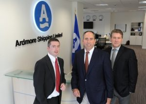 Paul-Tivnan-CFO, Anthony Gurnee, CEO and Mark Cameron COO Ardmore Shipping