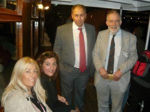 l to r: Anny Zade, Deppie Doxaki-Margaronis, George J. Margaronis and Jonathan Morley