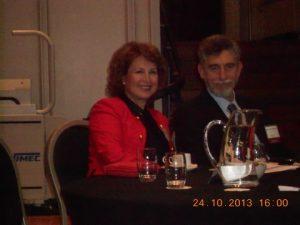 Smiling faces: Nicolas and Olga Bornozis