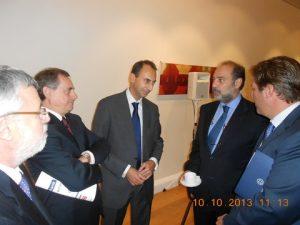 l to r: George Dimitrakopoulos, the Greek Ambasdor constaninos Bikas, Stratos Chatzigiannis, Harris Ikonomopoulos, and Greece's Shipping Minister Miltiades Varvitsiotis