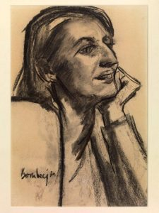 Portrait of Lilian. By David Bomberg. Charcoal on paper. Signed & dated '30