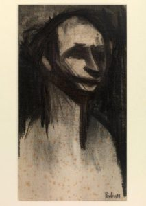 Self Portrait. Signed & dated '38. By David Bomberg Charcoal on paper