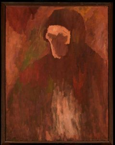 The Franciscan. Oil on canvas. Signed & dated '54. By David Bomberg