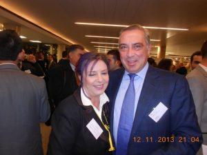 Dr. Nikolas P. Tsakos and Corina Lazarou from Ten who sponsored  the Canapé reception