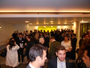 A view of  IMO's menzanine floor during the canape reception