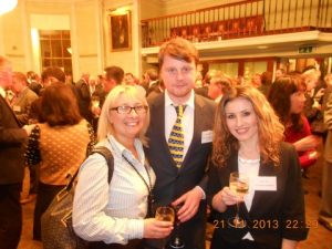 Lindsey Hill and James Murray from MOL's Tankship Management with Anna Ziou from the UK Chamber of Shipping