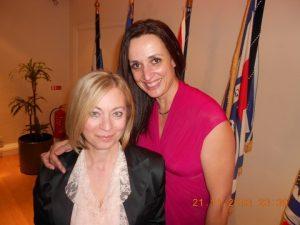 Bureau Veritas' Mrs. Maria Papanagiotou with the host's wife Mrs. Marianna Stamati
