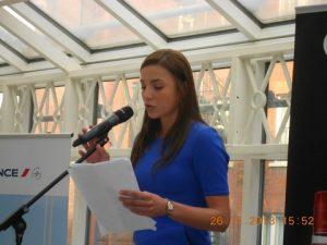 H.E.Ana Irene Delgado addressing the 300-strong guests