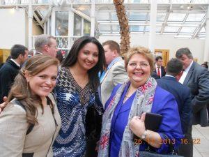 Ms Estefania Proano  from Panama's general Consulate in London, Ms Vivianne Almaro and WISTA-UK President Maria Dixon